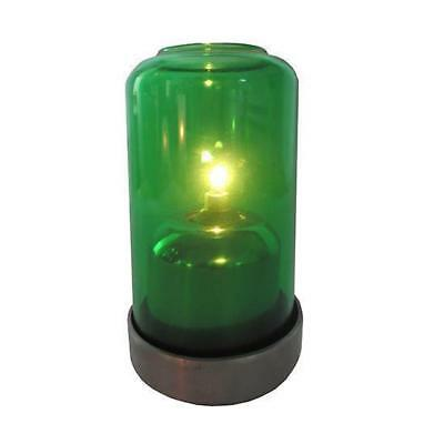 10x Oil Table Lamp / Light 'Aurora - Green', Restaurant - Safer than a Candle