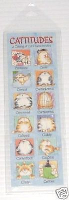 Leanin Tree BookMark Book Mark Cattitudes Cats with Attitudes Margaret Sherry