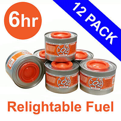 12x Buffet Chafer Fuel 6hr Oz Heat Fuels Chafers Chafing Dish Bain Marie