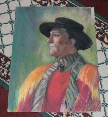 Stunning Pastel Pencil Drawing Portrait Of Spanish Flamenco Dancer-Colorful