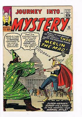Journey into Mystery # 96  Merlin the Mad ! grade 5.5 scarce hot book !!