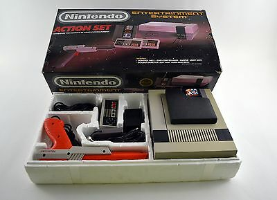Nintendo NES Action Set Complete in Box CIB Authentic Tested & Works!