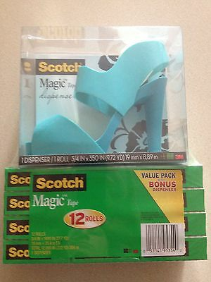 Scotch Magic Tape High Heel Dispenser With 12 Roll of Tape New