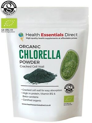 Organic Chlorella Powder - (Cracked Cell Wall For Full Absorption) Choose Size: