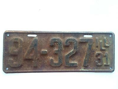 Illinois 1931 License Plate Model A Old Car Tag Vintage Garage Wall Man Cave Bar