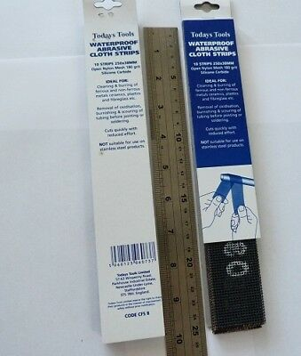 Silicone Carbide Abrasive Cleaning Strips 180 Gri 250X38Mm  Pack 10 (99.865)