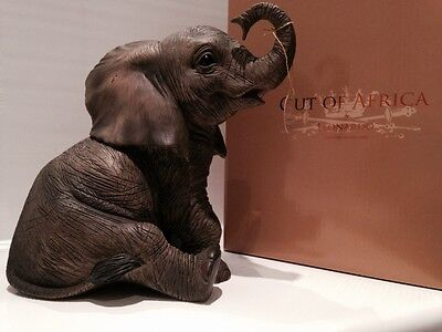 Large Baby Elephant Ornament Figurine Figure Gift Present 22cm
