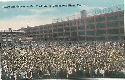 Ford Factory View 12,000 employees original Postcard