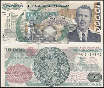 Mexico 10,000 (10000) Pesos, 1989, P-90c, UNC, Series-PH