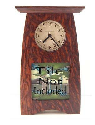 Arts & Crafts Craftsman Clock Oak Finish for 4x4 Motawi Tile or other