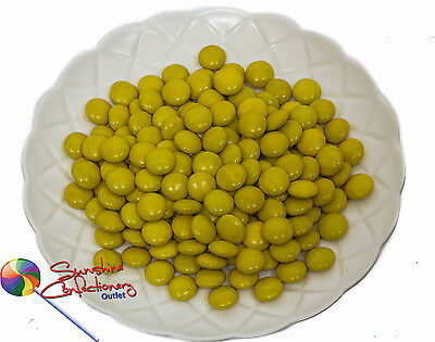 YELLOW COLOUR CHOCOLATE DROPS -1kg - yellow themed event Post Included