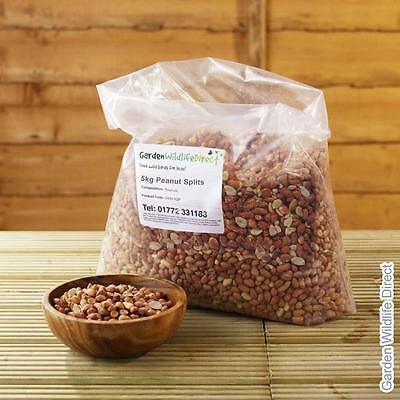25Kg Bird Peanuts Splits Aflatoxin Tested (2 x 12.5Kg) / Wild Bird Nuts / Garden