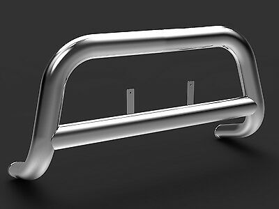 Isuzu D-Max 2012-On Stainless Steel Silver 89mm Tube Oval Bull Bar A-Bar