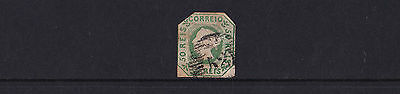 Portugal - 1853 50r Blue Green - Used with '52' Grill Cancel - Cat £950 - SG 6