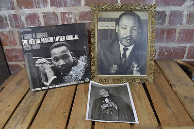 Lot Rev Dr. Martin Luther King Jr. Picture Frame & I Have a Dream Record