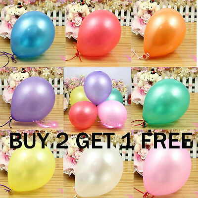 """20 X Balloons10"""" INCH Pearlised Latex Helium Birthday Party Wedding BALOONS"""