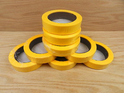 "8 QUALITY USA MADE 1"" Yellow Painters Masking Trim Edge Tape 180' 60 yd roll"