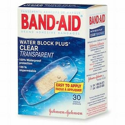 Band-Aid Water Block Plus Transparent Bandages 30 ct