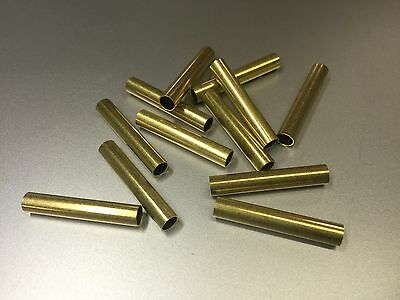 "12 Pcs Brass Tubing 1.25"" Long, 7/32"" OD, For Player Piano Repair/Restoration"