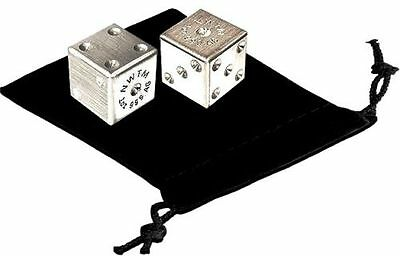 "Pair of Solid 1oz .999 Fine Silver Lucky Dice .575"" 2 oz Total  FASTEST SHIPPING"
