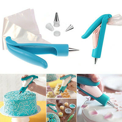 Pastry Icing Piping Bag Nozzle Tips Fondant Cake Decorating Pen DIY Tool Set EPS