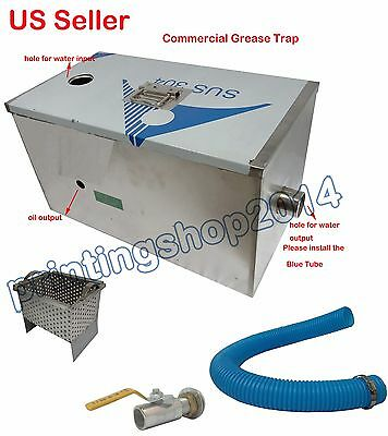 13GPM Commercial Grease Traps Kitchen Waste Filter 304 Stainless Steel