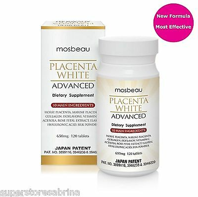 Mosbeau Placenta White Advanced Tablets Skin Care skin Brightening Supplement