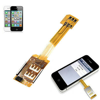 New Dual Double SIM Card Adapter Converter for Apple iPhone 6 6S 5S High Quality