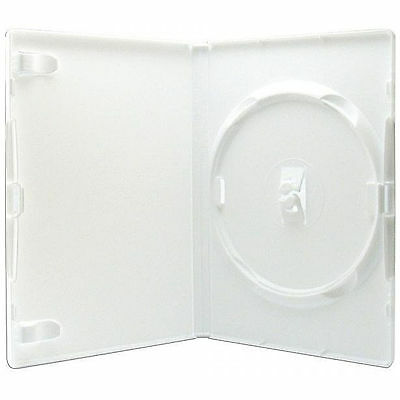 DVD COVER/CASES WHITE SINGLE 2 DISC - 14MM - 1 case -