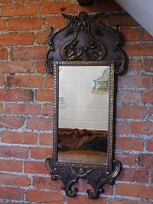A Large Decorative Antique Cherub Wall Mirror