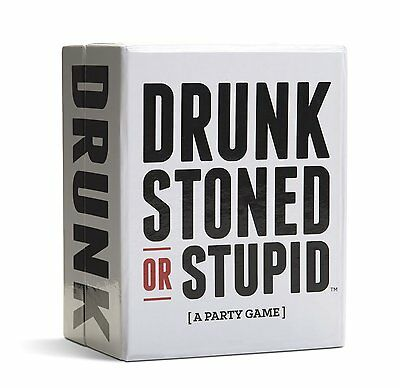 DRUNK STONED OR STUPID [A Party Game] 250 Cards alternate rules friends BRANDNEW