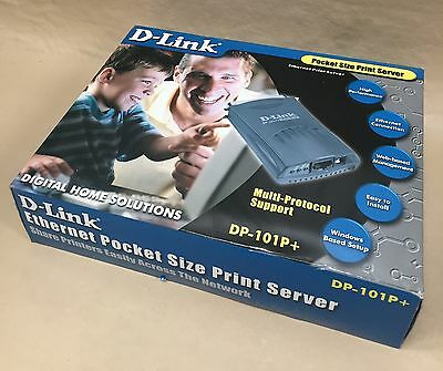 NEW D-link DP-101P+ Pocket Ethernet Print Server