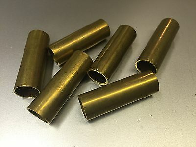 """6 Pcs Brass Tubing Approx 1.5"""" Long, 1/2"""" OD, For Player Piano Repair"""