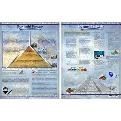 Pyramid Power Informational Laminated Chart!