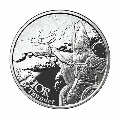 1 OZ THOR PROOF .999 Silver w/ COA VALKYRIE NORSE GODS SERIES #2 VIKING