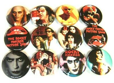"12 ROCKY HORROR Picture Show - Buttons 1"" Badges Pinback Pins One Inch RHPS"