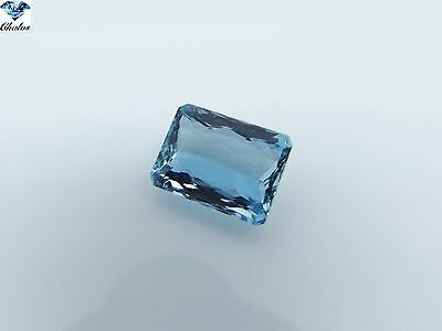 1x Aquamarin - Blau Octagon facettiert IF 6,43ct. 13,1x9,8x5,8mm (AQ100C)