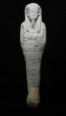 Zurqieh - Ancient Egypt . Beautiful Ancient Ushabti , 600 - 300 B.c, Hieroglephs