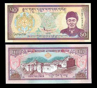 Bhutan 50 Ngultrum Nd 2000 P 24 Aunc