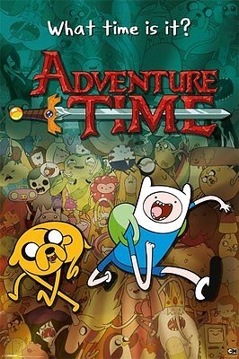 Adventure Time Collage Cartoon 91.5 X 61Cm Poster New Official Merchandise