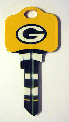 Nfl Packers Blank House Key For 5 Pin Kwikset Kw1 Can Be Punched To Your Code