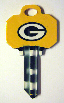 Nfl Packers Blank House Key For 5 Pin Schlage Sc1 Can Be Punched To Your Code