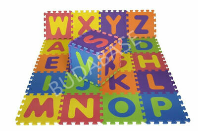 26pcs 32cm*32cm Each Large Alphabet PLAY MAT Floor BABY SOFT FOAM PUZZLE