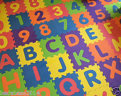 26pcs LARGE ALPHABET PLAY MAT BABY CHILDREN SOFT FOAM JIGSAW PUZZLE A-Z LEARNING