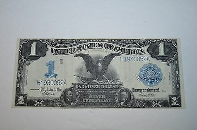 1899 United States Silver Certificate One Dollar Blue Stamp Fine.