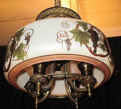 Antique 1920's Lightolier After Sunset Art Deco Cast Iron 4 Lt Ceiling Fixture • CAD $446.51