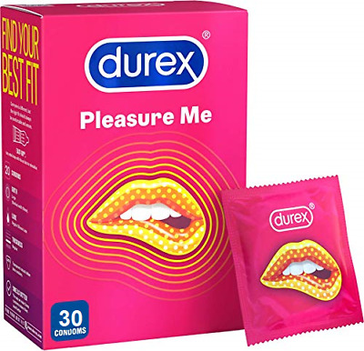 Durex Condoms Pleasure Me Ribbed & Dotted Extra stimulation 24 Bulk Pack Condoms