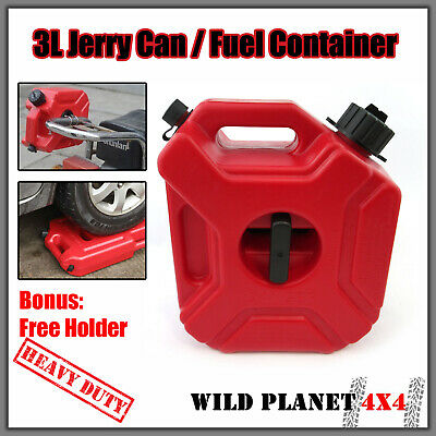 3L Jerry Can Fuel Container With Holder Spare Petrol Container Heavy Duty