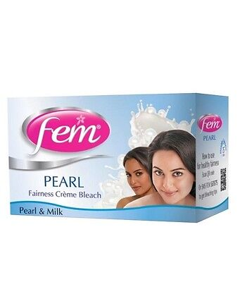 Fem Pearl Fairness Cream Bleach Pearl And Milk - 24 gm