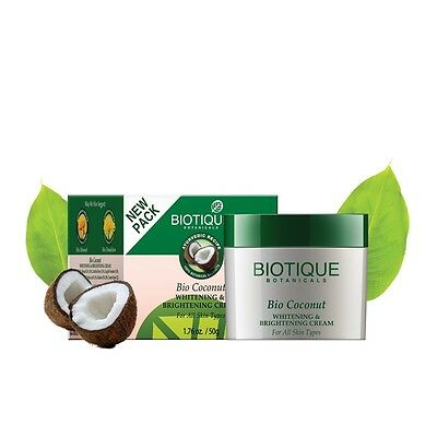Biotique Bio Coconut Whitening & Brightening Cream - 50 gm
